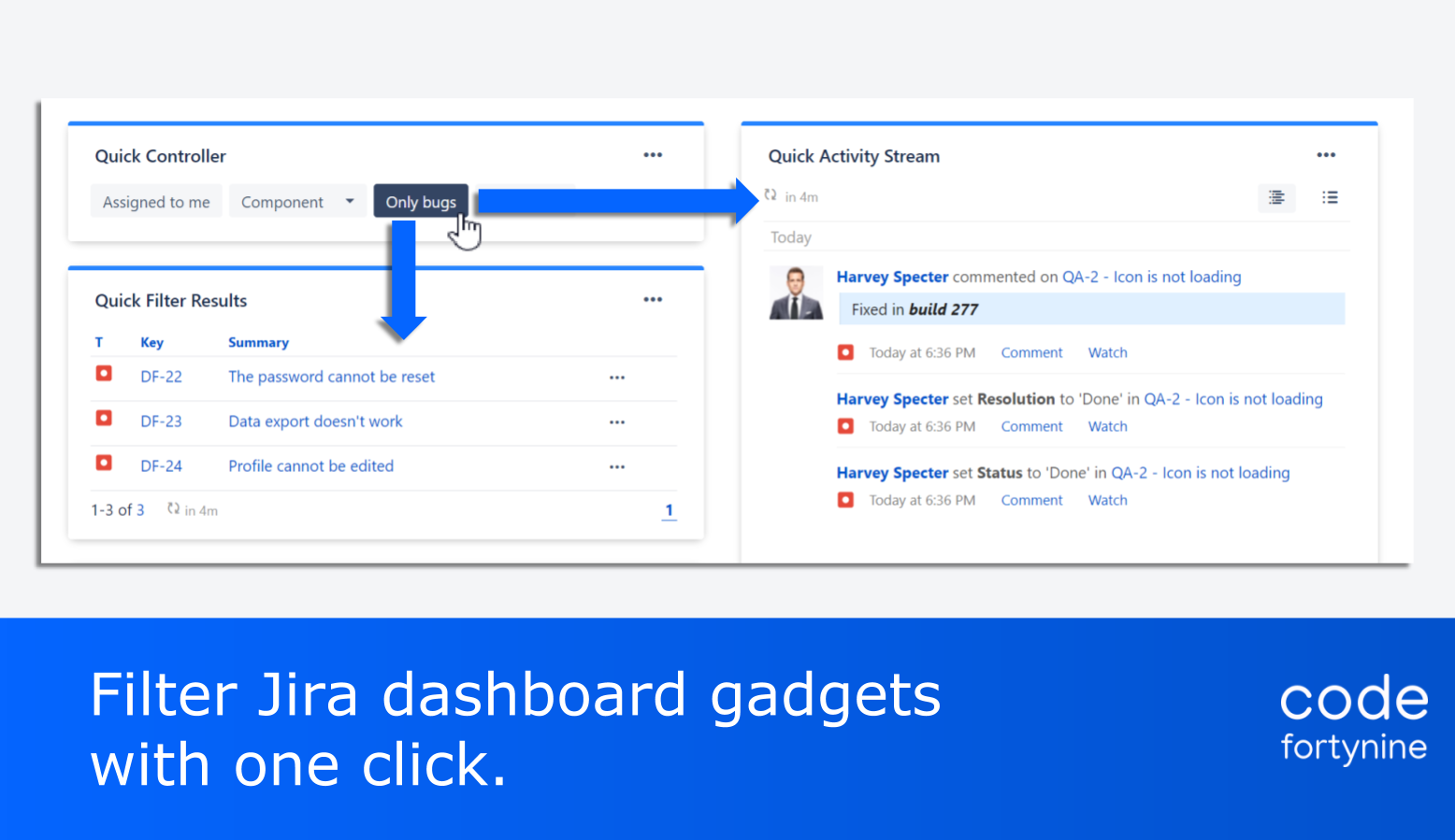 Highlight 1 Quick Filters for Jira Dashboards