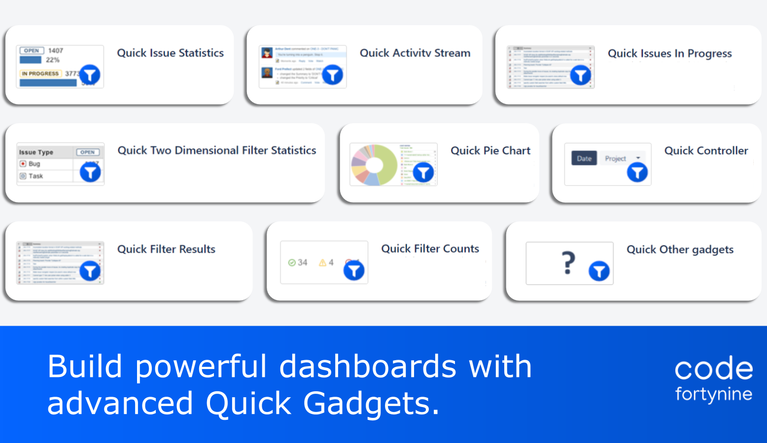 Highlight 3 Quick Filters for Jira Dashboards