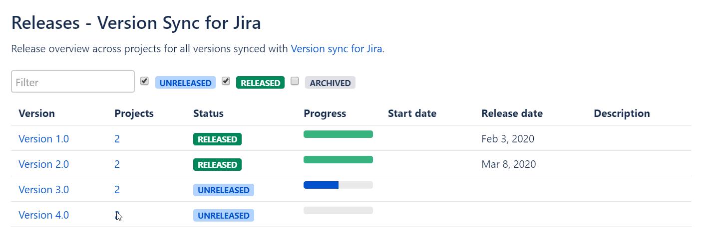 Highlight 3 Version Sync for Jira