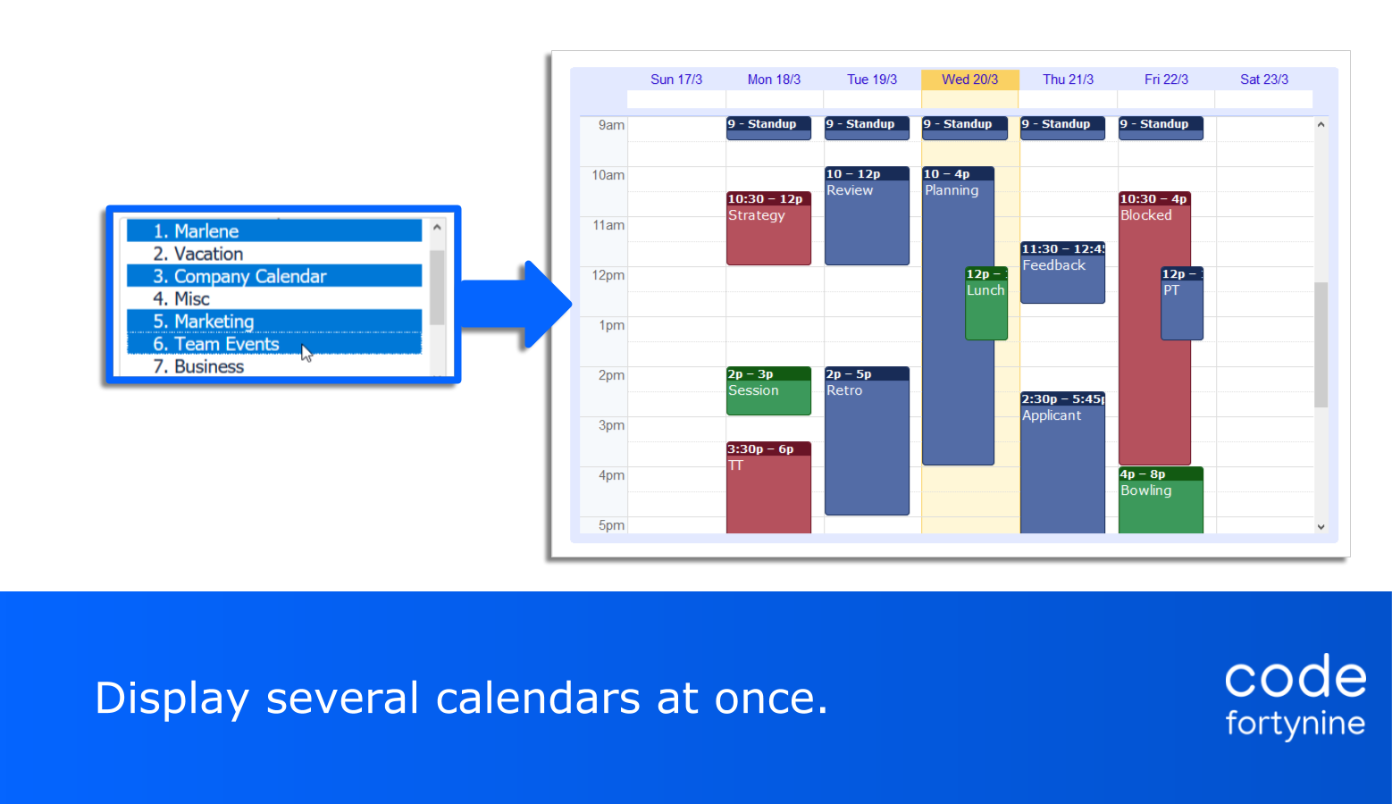 Highlight 2  Secure Google Calendar for Confluence